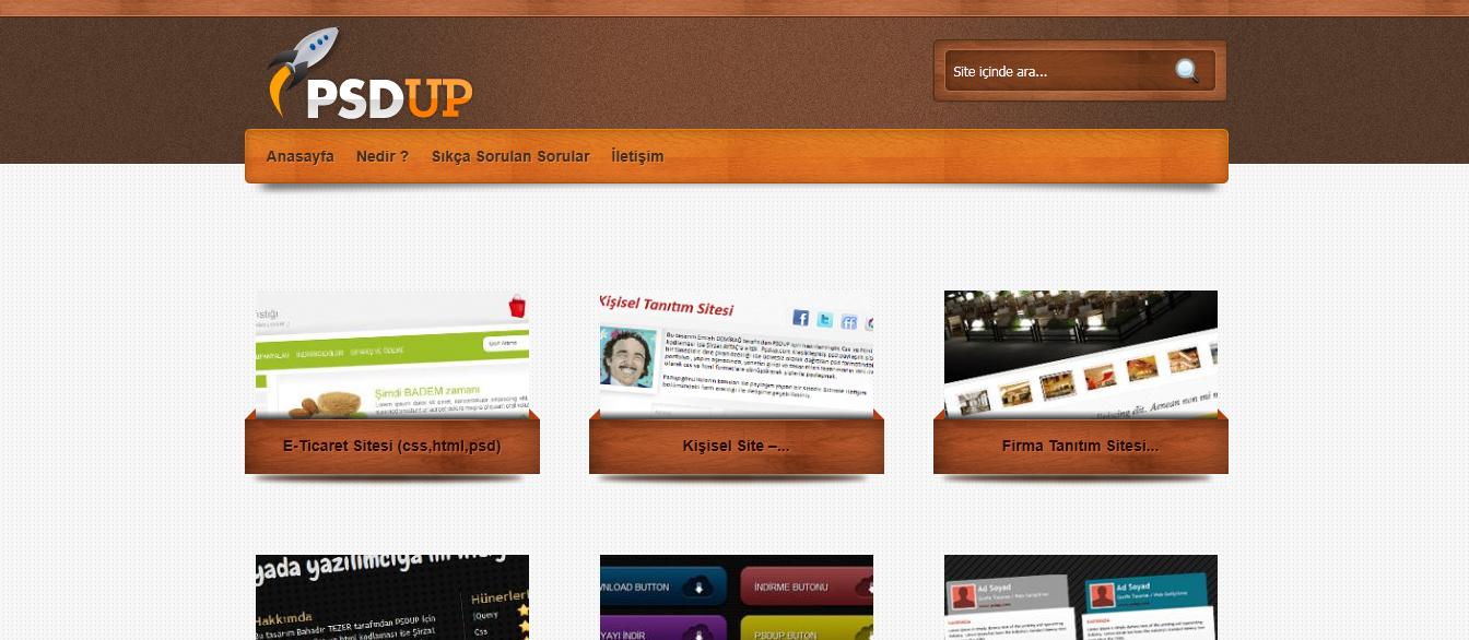 Psd Paylaşım Sitesi: PSDUP.com