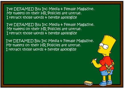Twitter'da 100 Özür Cezası