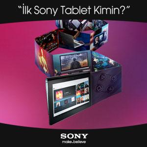 Türkiye'nin İlk Sony Tableti Senin Olsun!
