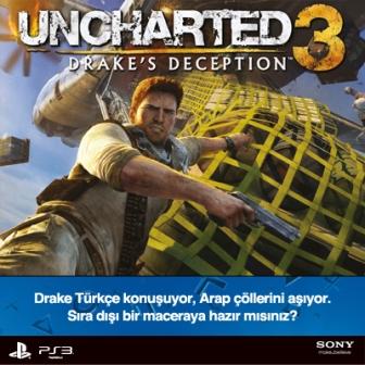 Uncharted 3 Ünlülerin Sesi ve 3D Desteği ile Satışa Çıkıyor!